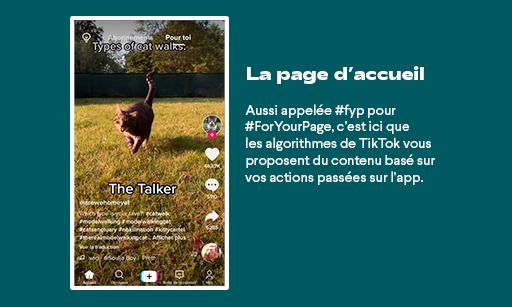 Tik Tok page accueil